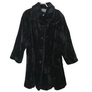 Nolvelti faux fur black winter coat
